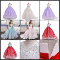 Filles Filles Fille Fleur Robes Pour Princesse Boule Robe Robe élégante Anniversaire Soirée Robe de soirée longue Pareant Vestido 61 Y2