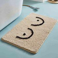 Bañera esponjosa letras graciosas de baño alfombra de baño bañera lateral alfombra de alfombra entrada alfombrillas de entrada alfombra de piso anti resbalón alfombras decoración del hogar