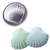 Nuevo 4 PCS Bath Bomb Molde de la torta de la bomba 3D Aleación de aluminio Mar Forma de concha de baño Baño Molde de la bomba Pastel de pastelería para hornear Molde de pastelería Cakeware DFF4988