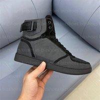Rivoli حذاء التمهيد الكلاسيكية مرحبا أعلى الأحذية الأسود جلد المطاط تسولي مصممي أحذية العداء المدرب