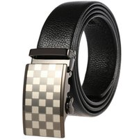 Sell like hot cakes-Automatic buckle man waist lead layer luxury quality designer belt mens luxury brands belt buckles