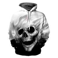 Women's Hoodies & Sweatshirts Drop Unisex 3D Printed Skull Pullover Long Sleeve Hooded Sweatshirt Tops Blouse 35