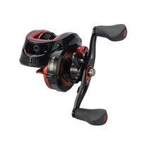 Carretes de baquetas Black-Red Spinning Reel Ultra Suave Poder Pesca Metal Kastking Carretilha Ryobi Molinete De Pesca