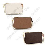 M58009 미니 Pochette Accessoires 상징적 인 패션 Womens 캔버스 파우치 저녁 클러치 Zippy 체인 지갑 동전 지갑 전화 슬링 가방 Originalbox