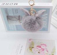 2021 fashion Key Rings Fox fur rabbit ears plush artificial keychain bag pendant custom design fast ship