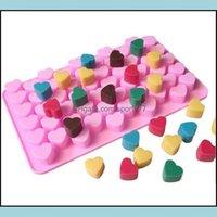 Cake Bakeware Kitchen, Dining Bar Home & Gardencake Tools 100Pcs 55 Holes Bake Mold 1.5 Mini Heart Sile Chocolate Fondant Jelly Cookie Muffi