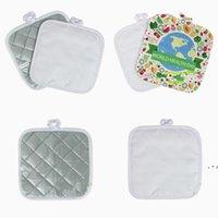 Süblimasyon Boşlukları DIY Paspaslar Yastık Mutfak Plaka Kase Pot Yalıtım Mat Yüksek Sıcaklık Direnç Pedleri Masa Süslemeleri BWB5540