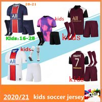Crianças 20 21 Mbappe Icardi Soccer Jersey Kit Maillots de Futebol 2020 2021 Kean Verratti uniformes Maillot Foot