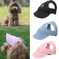 Dog Apparel Pet Hat With Ear Holes Sport Baseball For Sun Protection Adjustable Buckle Design Outdoor Wear-Resistant Cap