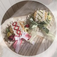 Other Event & Party Supplies Original Homemade Lolita Pastoral Style Straw Hat Light Gorgeous Braided