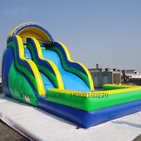 Outdoor Games & Activities Commercial Inflatable Water Slide In Pool Bouncer Bouncers For Kids
