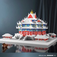 Micro mattoni mini blocchi architettura la città proibita set modello costruzione kit kid toy chinoiserie palazzo imperiale watchtower H0917