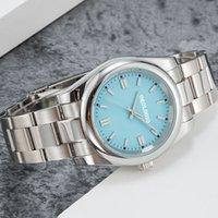 【code: OCTEU06】2020 Glide Lock Novo Top Cerâmica Bezel Sapphire Mens 2813 Movimento Automático Mecânico SS Moda Relógio de Relógios dos Homens