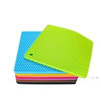 60g Silikon Petek Mat 15 Renkler Yuvarlak Silikon Placemat Disk Mat Kase Pot Mat EWB5296