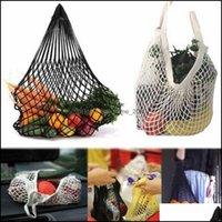 Bk Kitchen Housekee Organization Home & Garden Reusable String Fruit Storage Handbag Totes Women Shop Mesh Net Woven Shop Grocery Tote Bag F