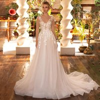 Other Wedding Dresses Stunning Pleat Illusion Appliqued Lace Engagement Bridal Party Bride Gowns Robe De Mariée Custom Made