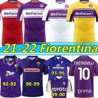 21/22 Fiorentina Retro Futbol Formaları 1992 93 95 96 98 99 2000 Maillot De Futbol Gömlek Ribery Callejon Prens Pezzella Chiesa 2021 2022 Vlahovic Erkekler + Kids Kit Jersey