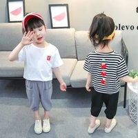 Kinderkleding 0 Nieuwe 2021 Zomer Meisje 1 Set Korte Mouw 2 3 Tweedelige T-shirt 4 Koreaanse versie 5