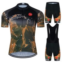 moxilyn yellow black starry sky colorful clouds pattern cycling jersey set summer short sleeve and shorts suithigh quality material bike clothing