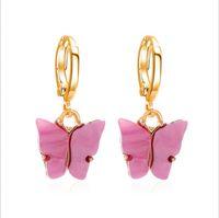 Alta calidad Lindo mariposa Pendientes Estilo de calle Pendientes de gota Moda coreana Pendientes Pendientes Joyería para mujeres Regalos 179 U2