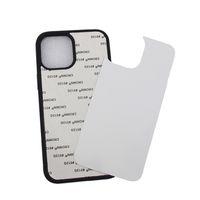 Süblimasyon Telefon Kılıfı Için iPhone 12 11 Pro Max XS XR TPU Tampon Alüminyum Boş Priting Arka Kapak DIY Tasarım Kılıfı