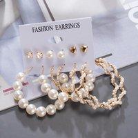 Orecchini da donna per borchie coreano per le donne vintage perla farfalla oro orecchino cuore set di orecchini 2021 orecchini di tendenza gioielli femminili
