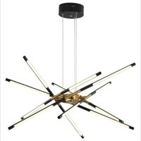 Chandeliers Modern Nordic LED Personality Creative Strip Black Gold Lamp Body Fashion Luxury Living Bedroom Dining Lighting