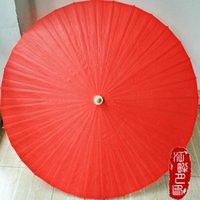مظلات اللون الأحمر النفط ورقة مظلة تأثيري أمين شخص المظلة اليابانية الصينية الزفاف الديكور شنقا