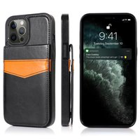 Shockproof Phone Cases for iPhone 12 11 Pro Max X XS XR 7 8 Samsung Galaxy S20 Ultra Note10 S10 Plus Multi Cards Photo Frame PU Leather Stand Protective Cover Case