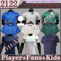 Thaïlande 2021 2122 Italie Jersey de football Accueil Jorginho El Sharawy Bonucci Insigne Bernardeschi Adulte Hommes Joueur Version Version Enfants Kit Football Shirts