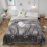 Graue Decken Cartoon Quilts Twin volle Königin King Mode Decken Weiche Wurf Flanelldecke auf Bett / Auto / Sofa Luxus Teppiche