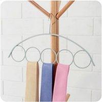 Hangers & Racks 1PC 5 Hole Scarf Wraps Shawl Storage Hanger Ring Rope Slots Holder Hook Ties Belt Rack Scarves OrganizerHolder