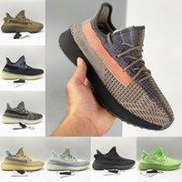 Adidas Yeezy 350 Koşu Ayakkabıları Kül Taş Mavi İnci V2 Erkek Sigara Karbon Toprak Kum Külçesi Taupe Marsh Keten Küliş Yansıtıcı Erkek Kadın Sneakers