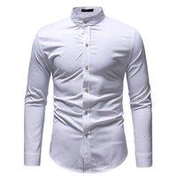 Erkekler Düğme Aşağı Parlak Gömlek erkek Hipster Gece Kulübü Çiçek Baskılı Şık Düzenli Slim Fit Uzun Kollu Iş Parti Standı Yaka Gömlek Erkek CS45 Için Hip Hop Tops