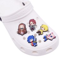 Karikatür PVC Ayakkabı Decorationos Accessoreis Anime Croc Charms Takunya Bilezik Wirstband Charm Toka Hediye