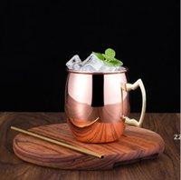 Canecas de mula de Moscou Canecas de cerveja de aço inoxidável rosa caneca de cobre de prata de ouro martelado Barra de bebida Bebida Bebida Bebida Copo de vidro HWF10049