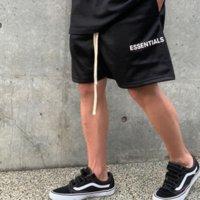 Hohe Qualität Nebel von Männern Essentials Zweig Linie Mesh Shorts High Street Lose Sporthosen Neue
