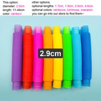 2.9cm Pop Tubes Fidget Toy for Kids Teens and Adults Mini Big Popping Fidgets Tube Pack Stress ReleaseAutism Sensory Toys Rainbow