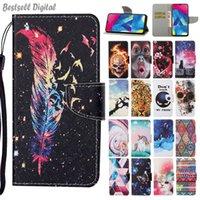 Fashion Flip Wallet Leather Case For VIVO Y91 Y95 Y91i Y17 Y12 Y15 Y11 2019 C11 Y50 Y30 Phone Card Holder Stand Book Cover Painted Coque