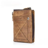 Bestform خمر الرجال الصغيرة محفظة جلدية 2021 جديد الترفيه المحفظة بطاقة حامل متعدد البطاقة موقف الذكور عملة محفظة قصيرة محافظ