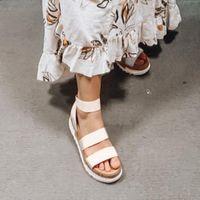 Женские Сандалии на платформе Женщины Peep Toe High Dihope каблуки Пряжки лодыжки Sandalia Espadriilles Женские сандалии Обувь Sparx Sandals Blue Boot G8XQ #