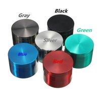 Ot Öğütücü Ot Metal Gerdin 55mm 4 Katmanlı Tütün Öğütücü 5 Renkler ZICN Alaşım Renkli Öğütücüler için Kuru Herb Ücretsiz Kargo