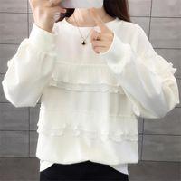 Women's Hoodies & Sweatshirts White Black 2021 Women Fashion Color Sweatshirt Autumn Winter Casual Top