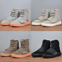 Sıcak Satış Erkek Kış Çizmeler Kanye West 750 Tasarımcı Ayakkabı 750 Çizmeler Erkekler Ayakkabı Eğlence Koşu Spor Ayakkabı Kadın Çizmeler DağcılıkBasket-B