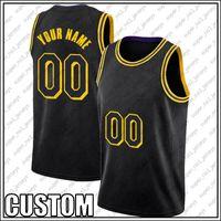 Custom BLACK MAMBA Los Angeles Basketball Team Jersey DIY Stitched Name Number Sweatshirt Size S-XXL XDMGH6