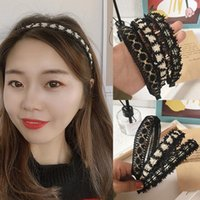 Hair Accessories Fashion Lace Hoop Women Girls Flowers Band Ponytail Rope Hairbands Headwear