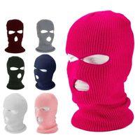 3 Agujeros cs cálido gorro sombrero invierno al aire libre ciclismo esquí deportes cara cubierta máscaras tácticas calentador gorra bufanda barato 75 w2