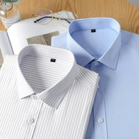 Men's Dress Shirts Shirt Long Sleeve Bamboo Fiber Non-Iron Men Business Formal Wash And Wear Designer Clothing