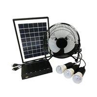 Generador solar 15W Soporte Sistema de iluminación de ventilador eléctrico FM Radio Bluetooth Reproductor de música Música de la fuente de alimentación móvil Directorio de fábrica OEM y ODM