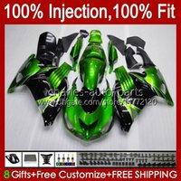 OEM Injection For KAWASAKI NINJA ZX14R ZZR-1400 ZX 14R 14 R ZZR1400 06-11 Body 4No.5 ZX-14R 06 07 08 2009 2010 2011 ZZR 1400 CC 2006 2007 2008 09 10 11 Fairing green stock